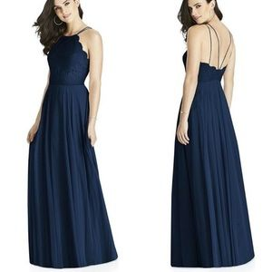 New Dessy Collection Lace & Chiffon A-Line Gown 12